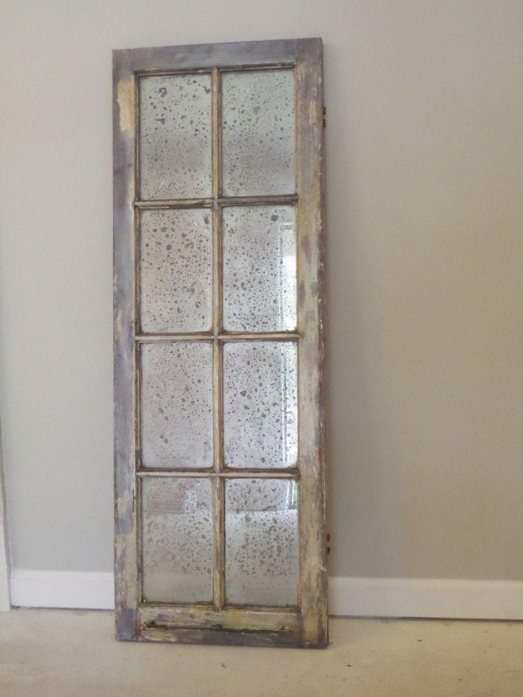 An Antique Mirror Antique Window Frames Old Windows Antique Mirror