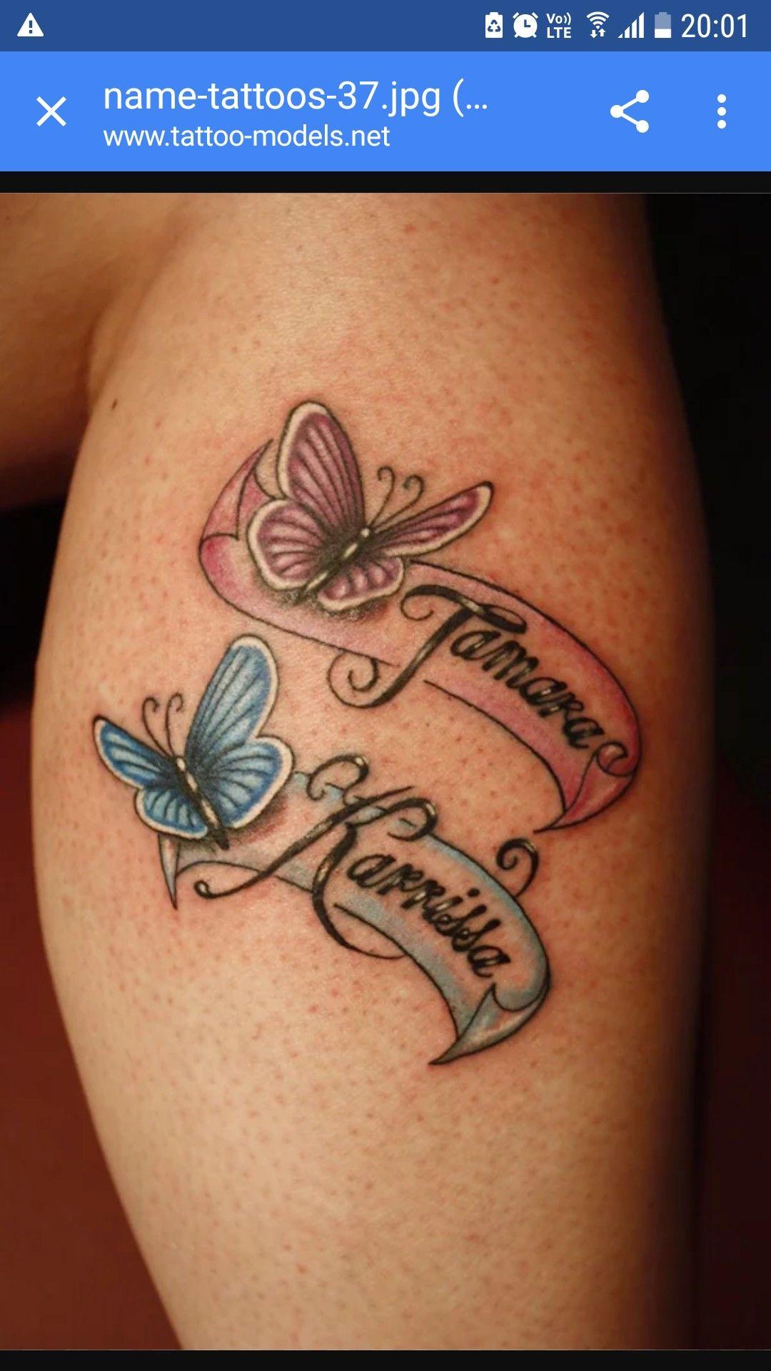 Farfalle con nomi