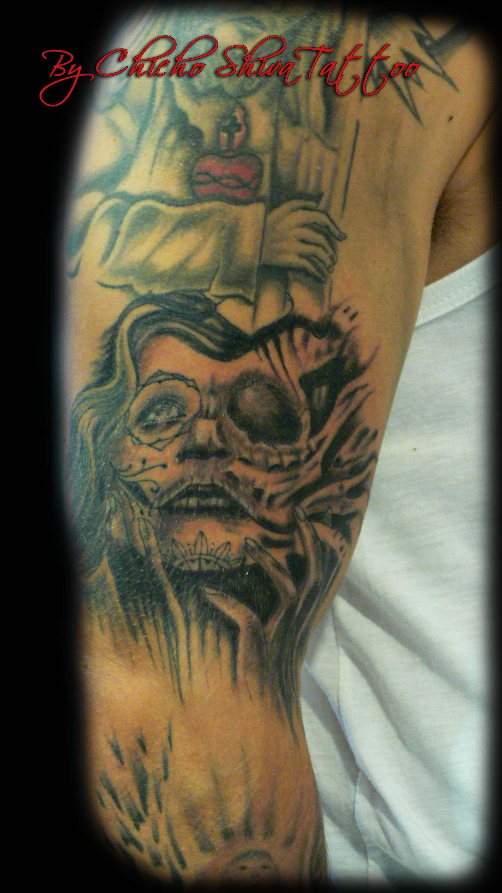 Tatuaje Catrina Brazo Tatuajes By Chicho Shiva Tattoo Shiva