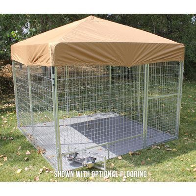 """K9 Kennel Modular Complete Galvanized Steel Yard Kennel Color: Camouflage, Size: 72"""" H x 96"""" W x 96"""" L"""