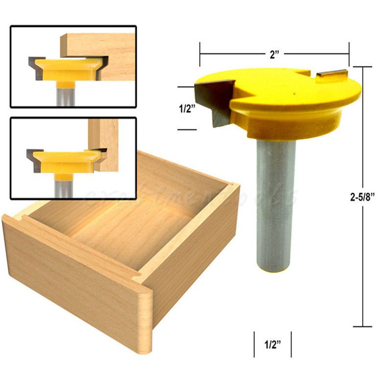 Drawer Lock Joint Front Joint Router Bit Reversible 1 2 Inch Shank