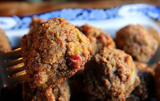 Bacon and Sausage Stuffing Balls (Gluten-free!)