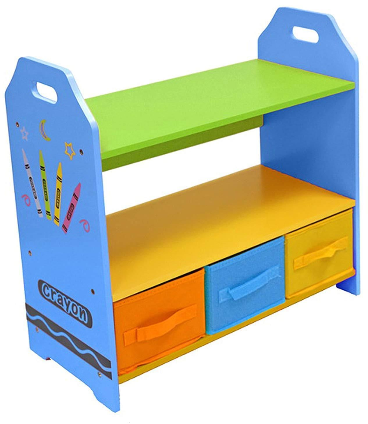 Kiddi Style Crayon Storage Unit With 3 Boxes Blue In