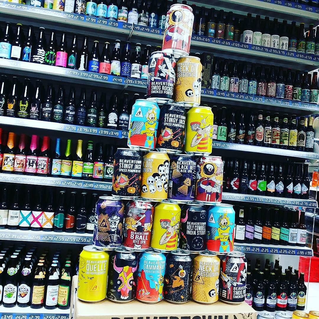 Raynville Superstore On Instagram Leaning Tower Of Beavertown Cans Full Selection In Stock Now Beavertown Leaning Tower Craft Beer