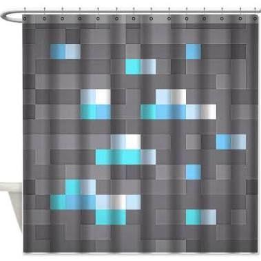 Minecraft Shower Curtain Google Search Minecraft Bedroom