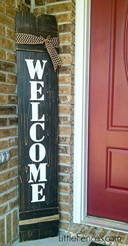Welcome Sign Great For Front Door Outside Decor Inside Decor Farmhouse Rustic Aff Link Porch Welcome Sign Wooden Welcome Signs Welcome Signs Front Door