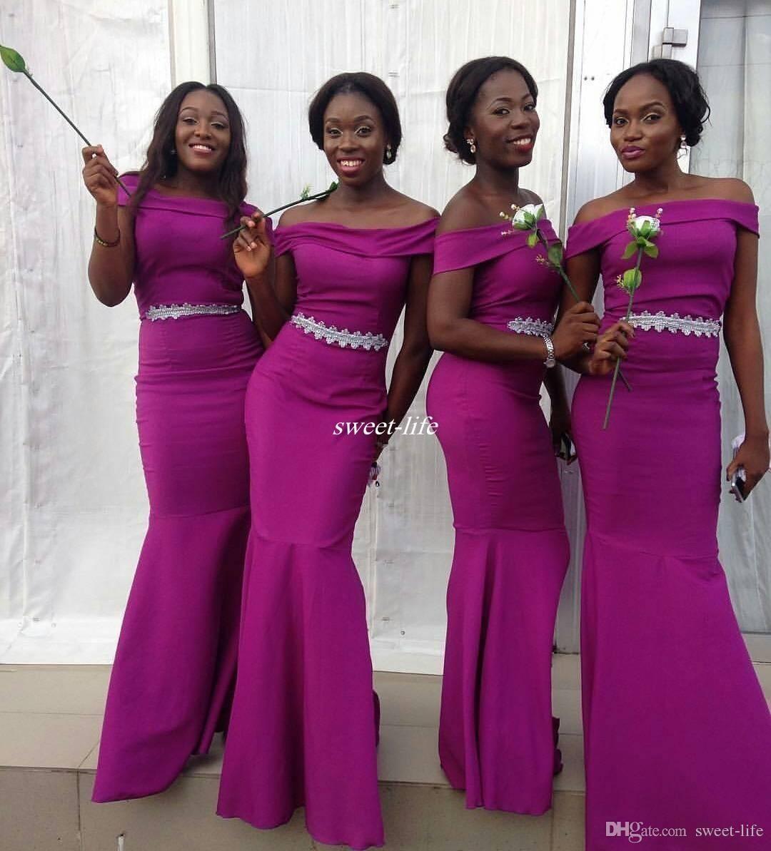 Elegant purple sheath long bridesmaid dresses off shoulder lace elegant purple sheath long bridesmaid dresses off shoulder lace satin cap sleeve ombrellifo Image collections