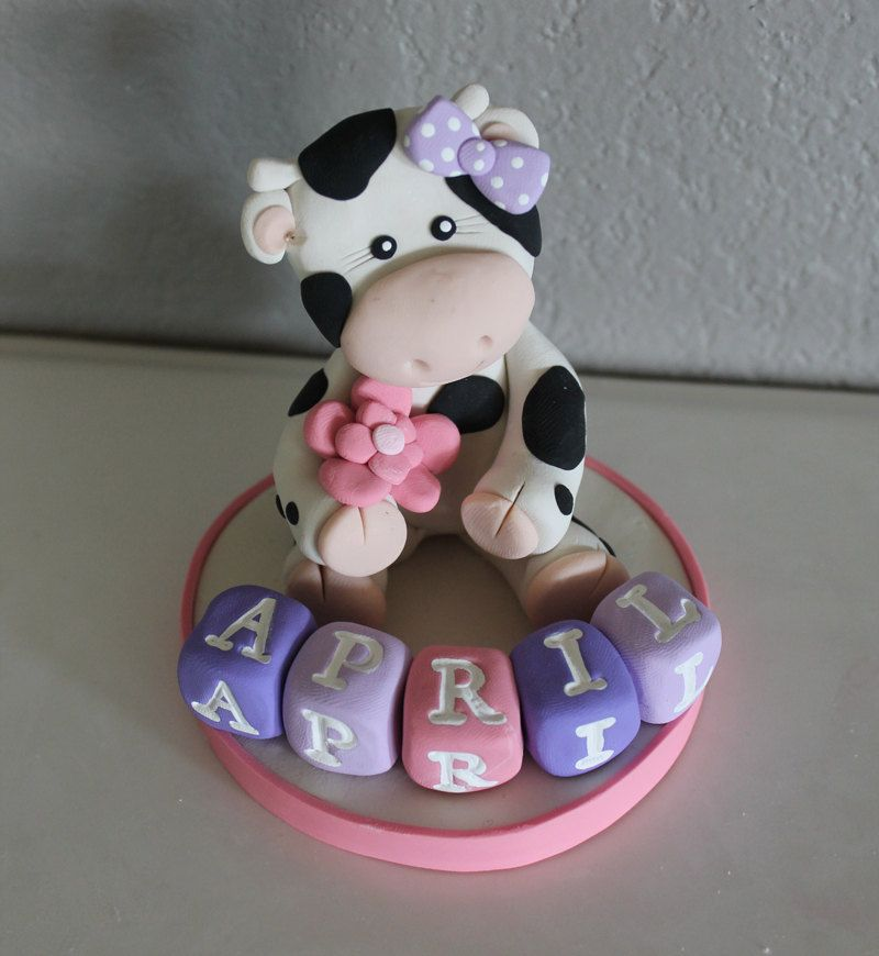 Custom Cow Cake Topper For Birthday Or Baby Shower