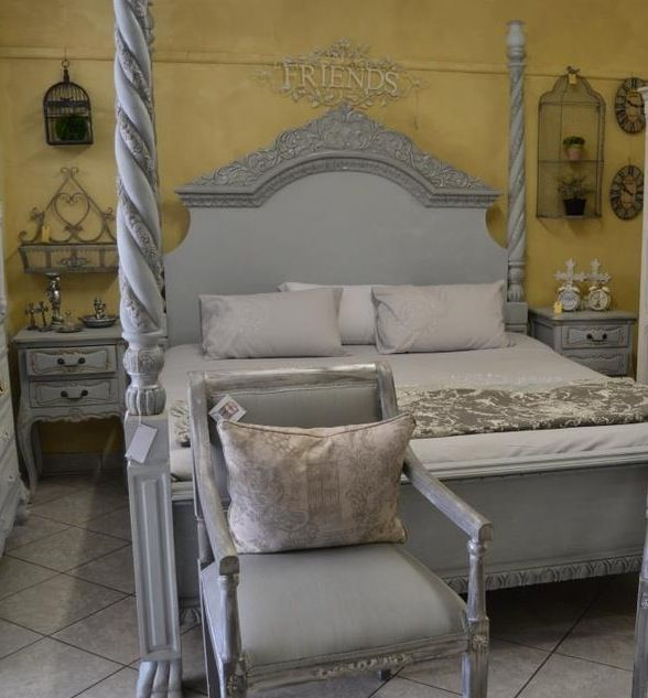 Chalk painted bed.   Painted beds, Painted bed frames ...