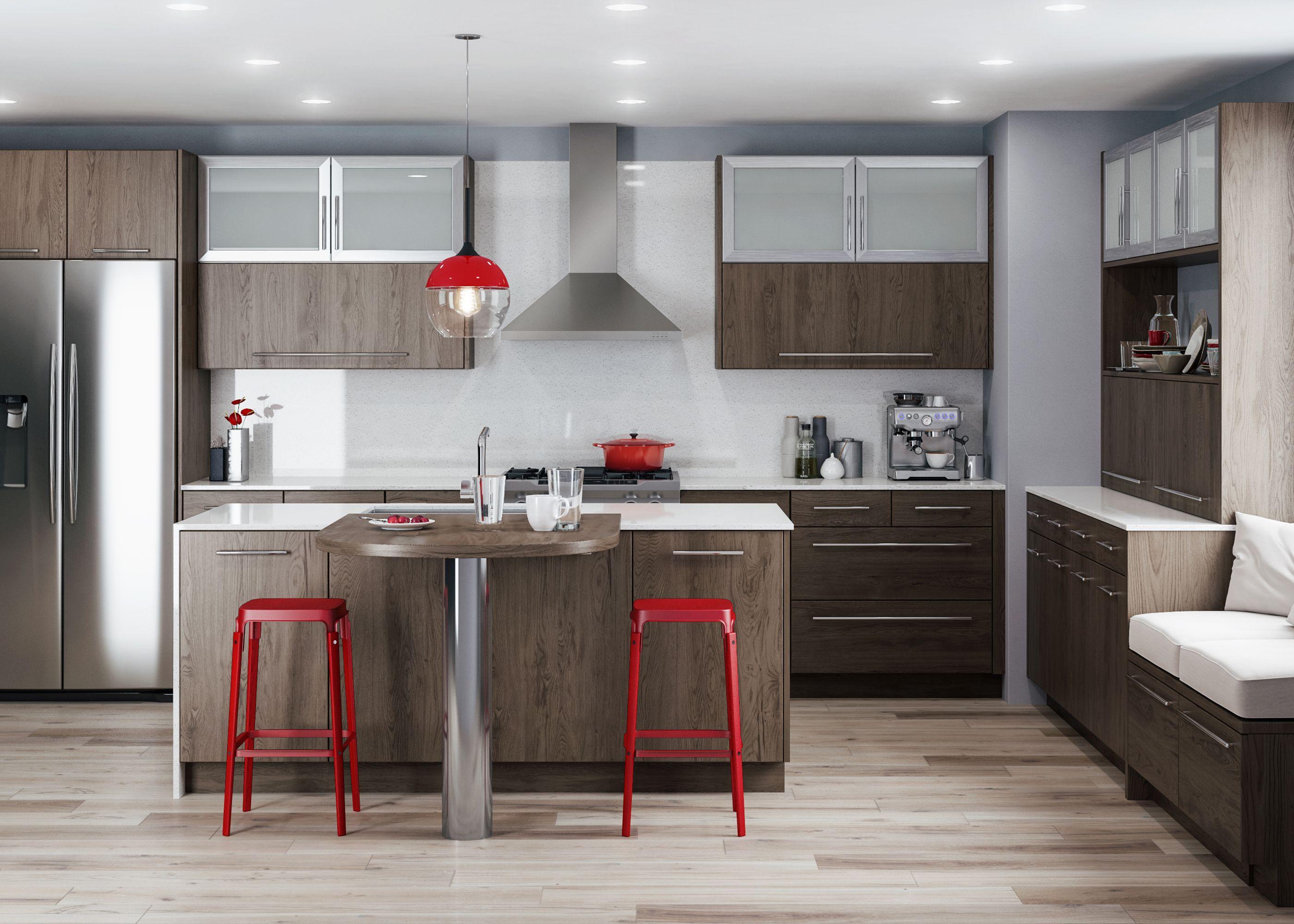 Latitude Cabinets  Urbana Red Oak Folkstone
