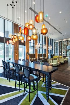 Niche Modern Pendant Lighting At The T5 Hilton Heathrow In London Eclectic Dining Room