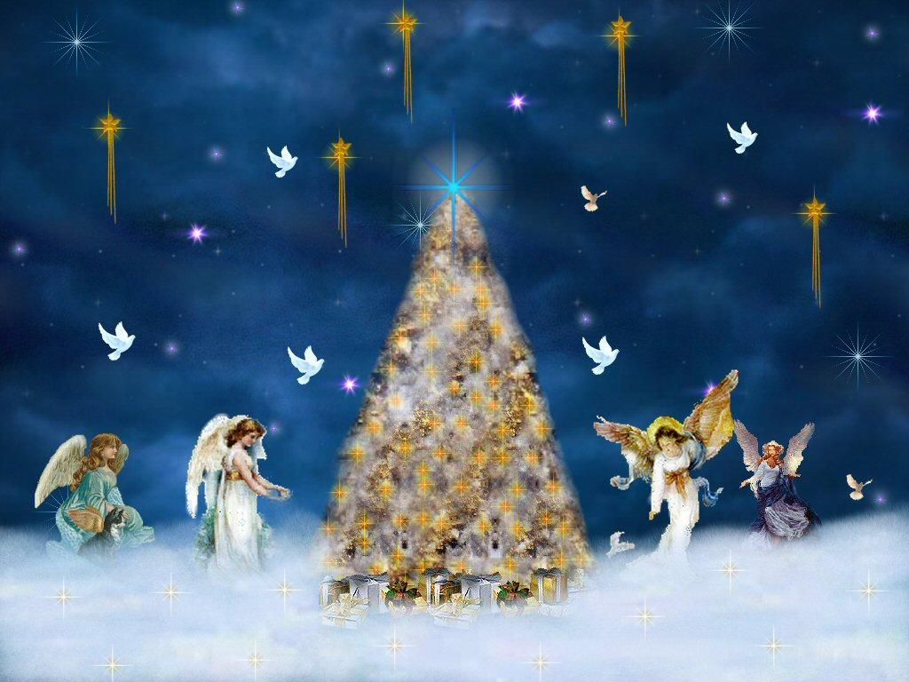 Image Detail For Free Christmas Desktop Wallpaper Angel Wallpapers