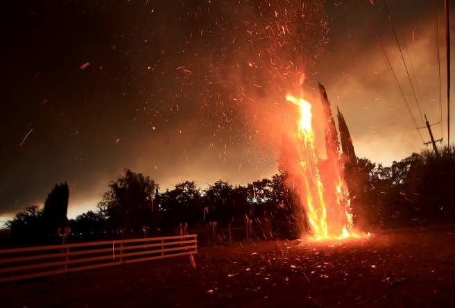 Valley Fire in Lake County