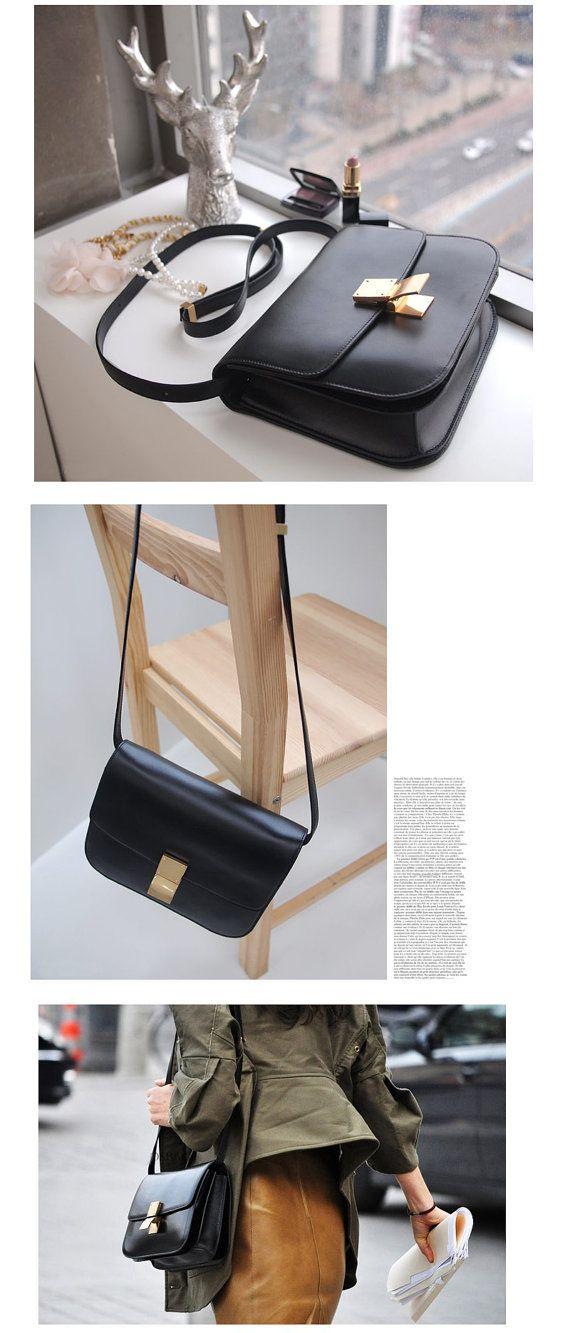 Genuine leather Celine classic box inspired Crossbody by ePniel