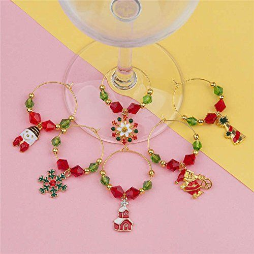 Wine Glass Charms Mark Table For Party Wine Glass New Year