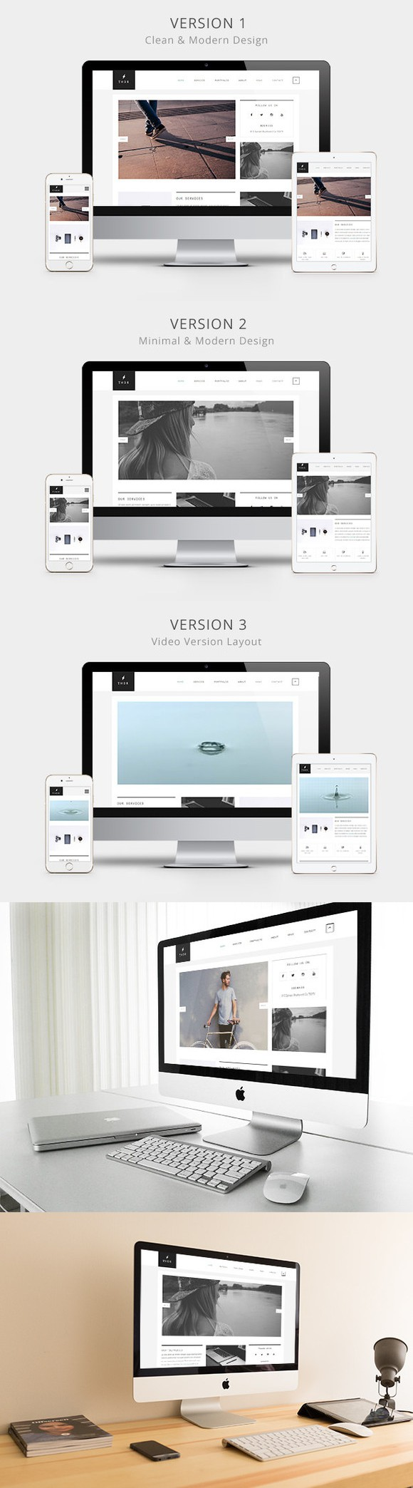 Thor HTML5 Creative Template. HTML/CSS Themes. 12.00