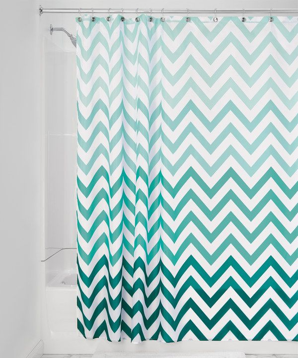 InterDesign Ombre Chevron Shower Curtain Gray Multicolor 72 Inch X Machine Washable Easy Care Use Of Liner Recommended Check Out InterDesigns