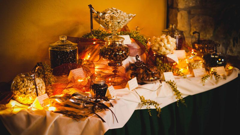 Beautiful Fall Wedding Candy Buffet Weddings