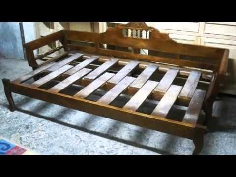 sofá-cama de madera - YouTube   carlos   Pinterest   Camas de madera ...