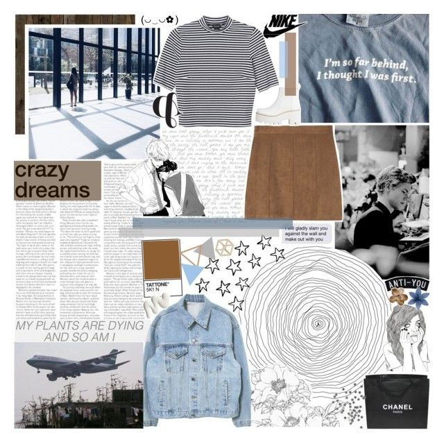 """""""you think (+ a tag)"""" by iced-lemons ❤ liked on Polyvore featuring Piet Hein, Monki, Chanel, Topshop and country"""
