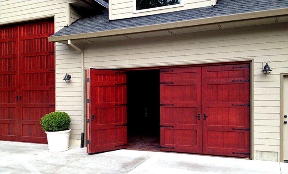 Bifold Wooden Garage Doors Diy Garage Door Garage Doors