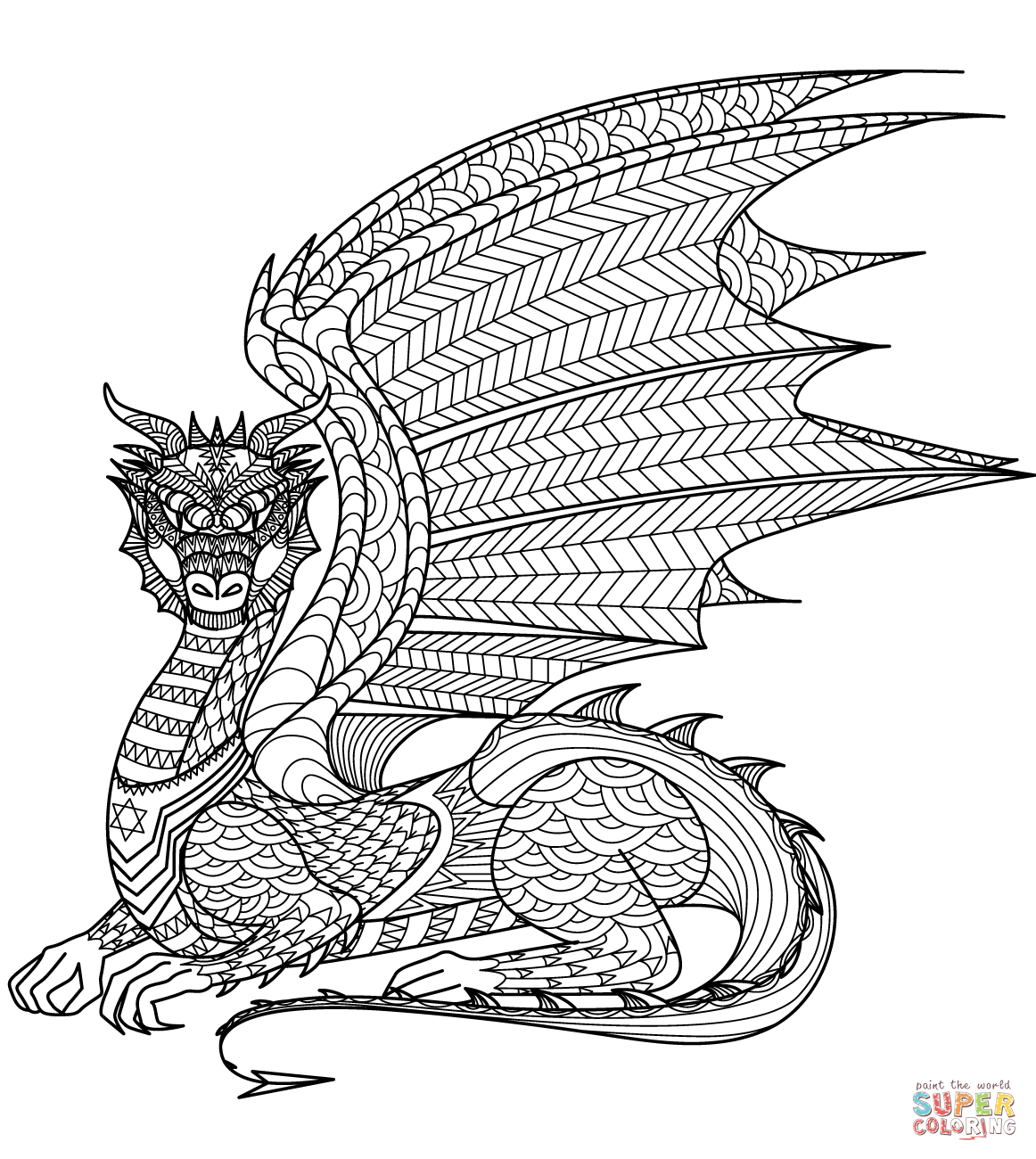 Dragon Zentangle | Super Coloring --> If you\'re in the market for ...