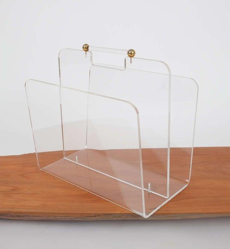 Acrylic Lucite Magazine Rack With Images Acrylic Furniture