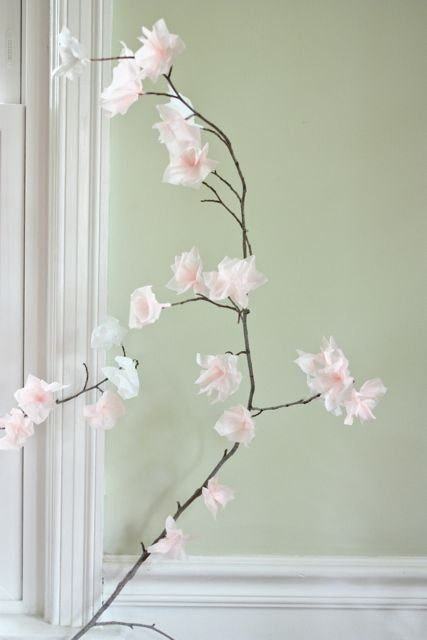 How To Create Paper Blossoms Tissue Paper Flowers Paper Flowers Paper Decorations
