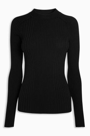Buy Black High Neck Rib Sweater from Next Ireland