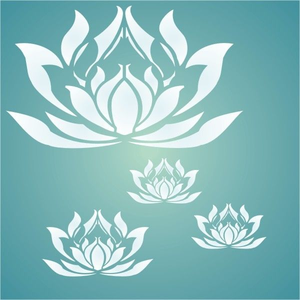 lotus flower stencil available in different sizes this stencil