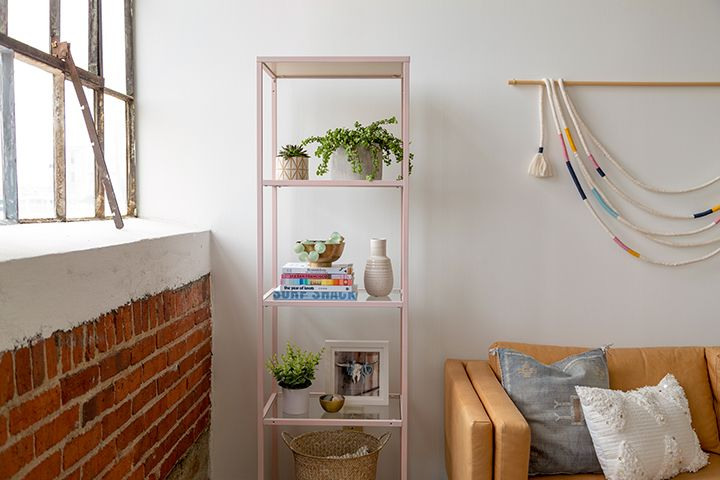 This IKEA Shelf Got a Serious (Easy) Makeover Using Chalk Spray Paint #spraypainting