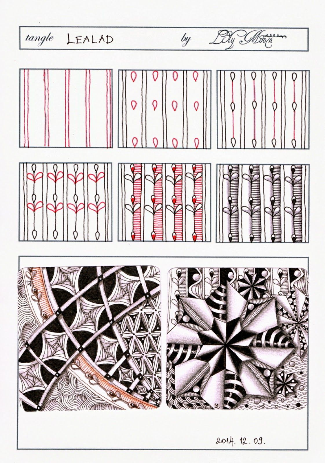 Lily's Tangles: My new Tangle: Lealad | Zentangle patterns ...
