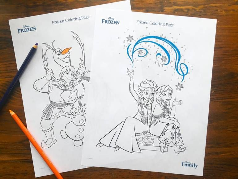 Disney Coloring Pages Holiday : Disney goes frozen this january christmas printables and crafts