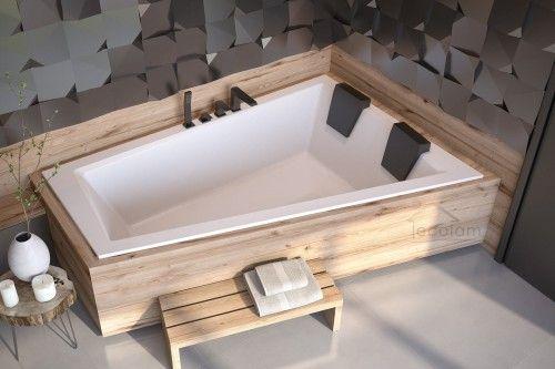 Photo of Bathtub corner bathtub Intima Duo Slim 180 x 125 cm right optional headrest