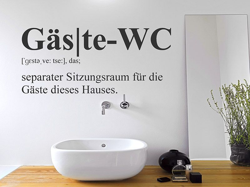 Wandtattoo Gäste-WC Defintion in 2019 | Art | Gäste wc, Wandtattoo ...