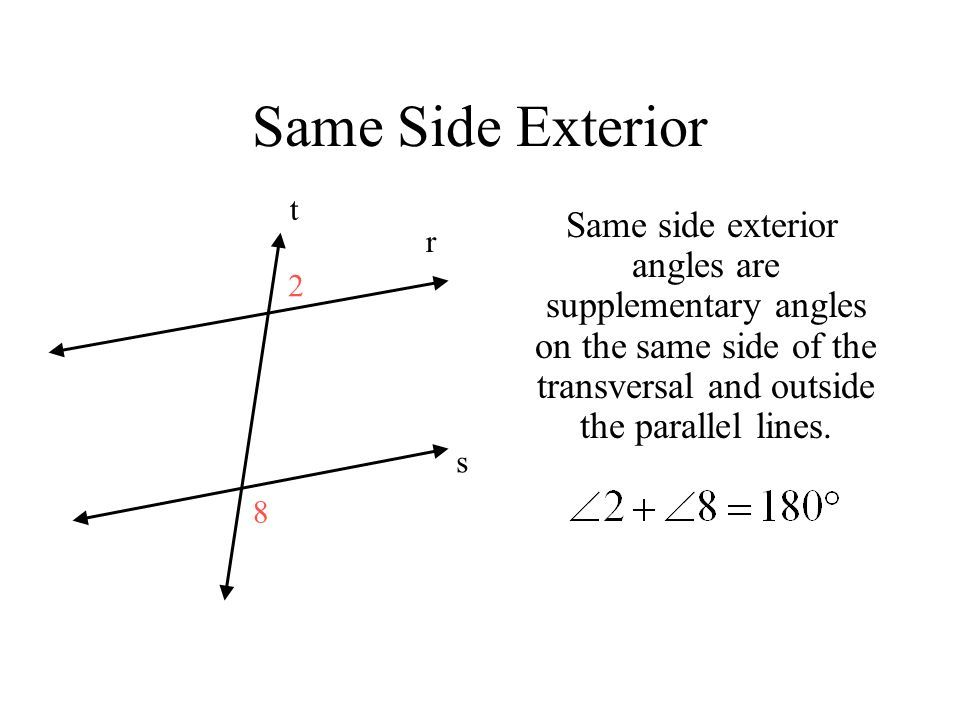 Transversal And Parallel Lines Ppt Video Online Download Transversal And Para Script Type App Exterior Siding Alternate Interior Angles Exterior Angles