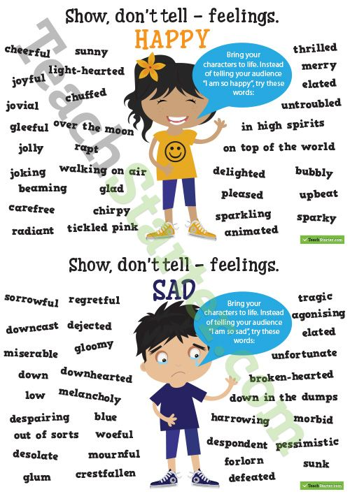 Show dont tell feelings Synonyms Poster Pack Teaching Resource – Show Don T Tell Worksheet