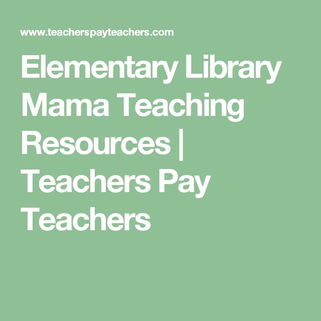 Elementary Library Mama Teaching Resources | Teachers Pay Teachers