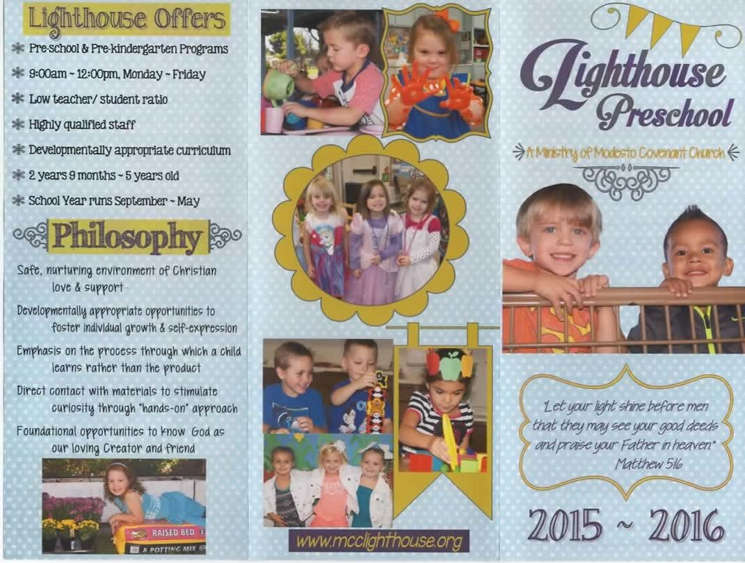 Lighthouse Preschool Brochure 20152016 Preschool