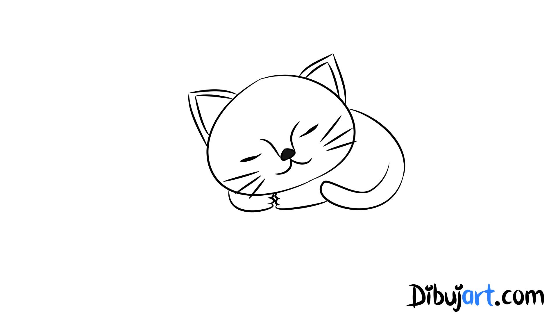 Dorable Páginas Para Colorear De Gatos Para Que Los Niños Impriman ...