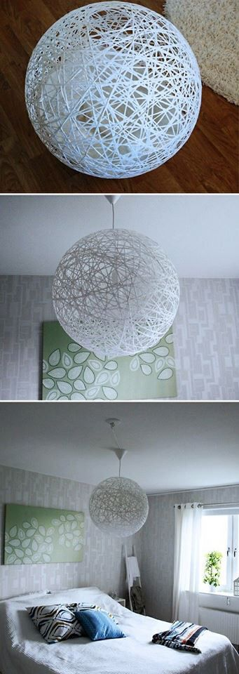 diy string ball lantern pt 2 lampen basteln basteln deko. Black Bedroom Furniture Sets. Home Design Ideas
