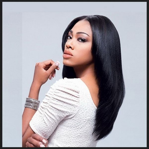 straight long hairstyles black