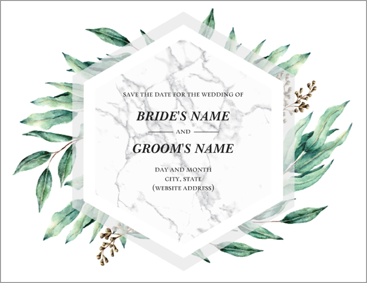 Save the Date in 2020 Wedding menu cards, Save