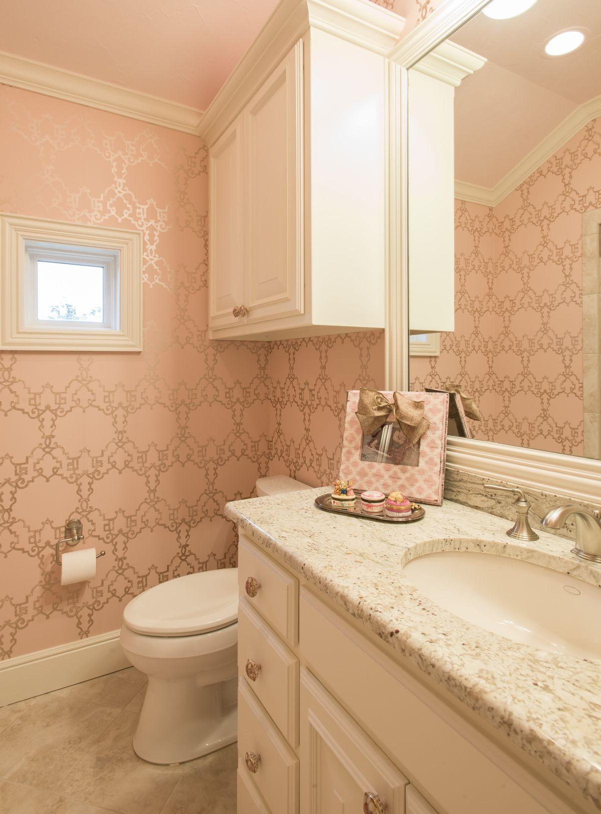 Allison Seidler Interiors Little Girl's Bathroom pink