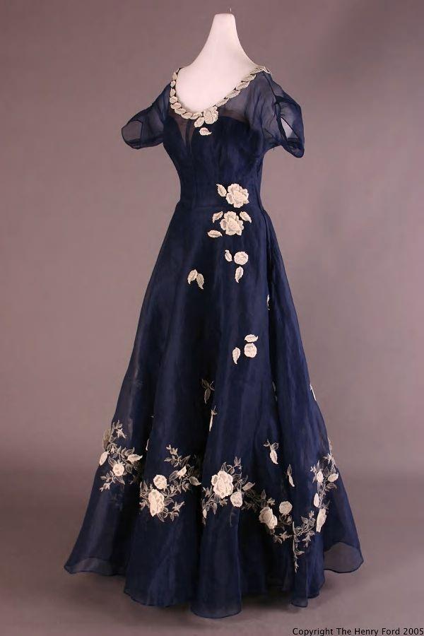 Evening Dress, 1949, designed by Gimbel, Sophie. Clothing ...