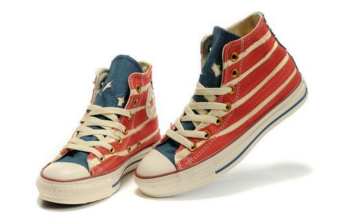 converse USA flag high cut shoes