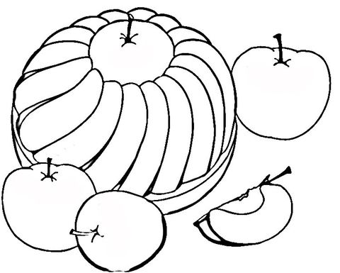 Susser Apfelkuchen Ausmalbild Kostenlose Ausmalbilder Ausmalen Ausmalbilder