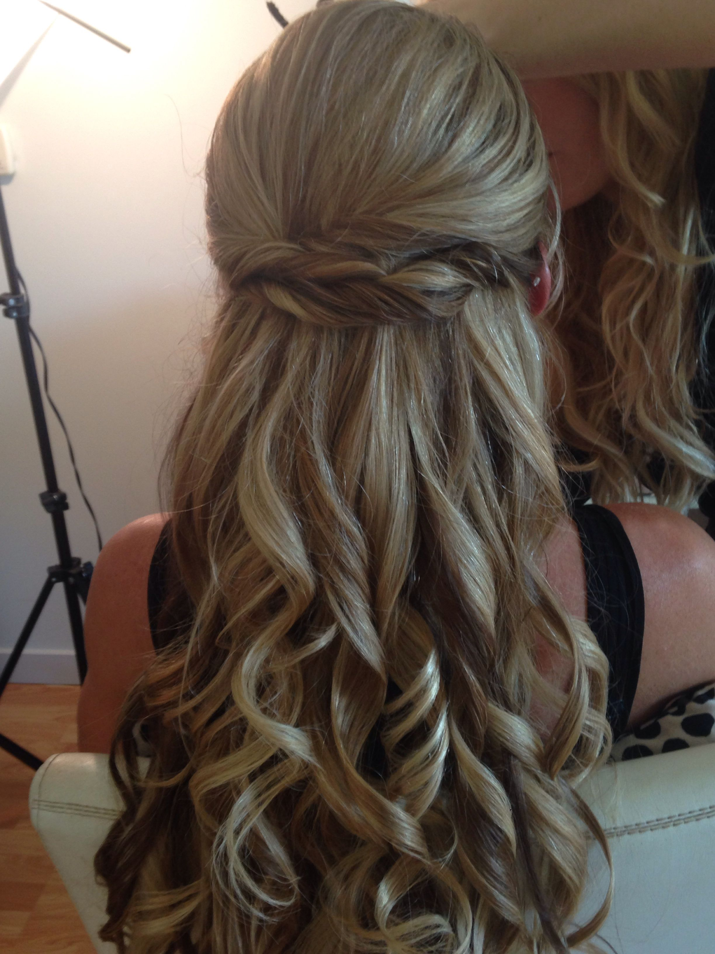 Half up brides hair clip in extensions hair extension