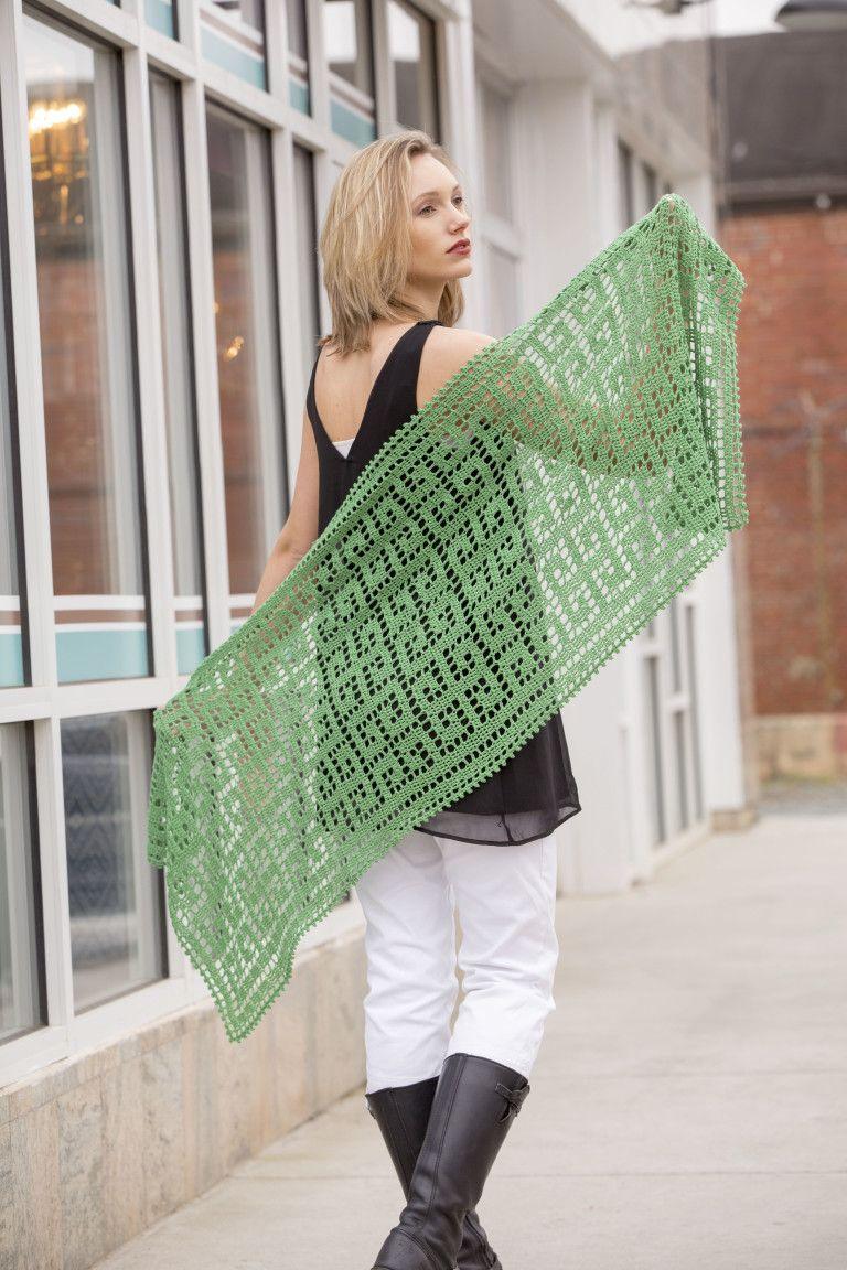 Delphi Stole – How to Do Filet Crochet #filetcrochet
