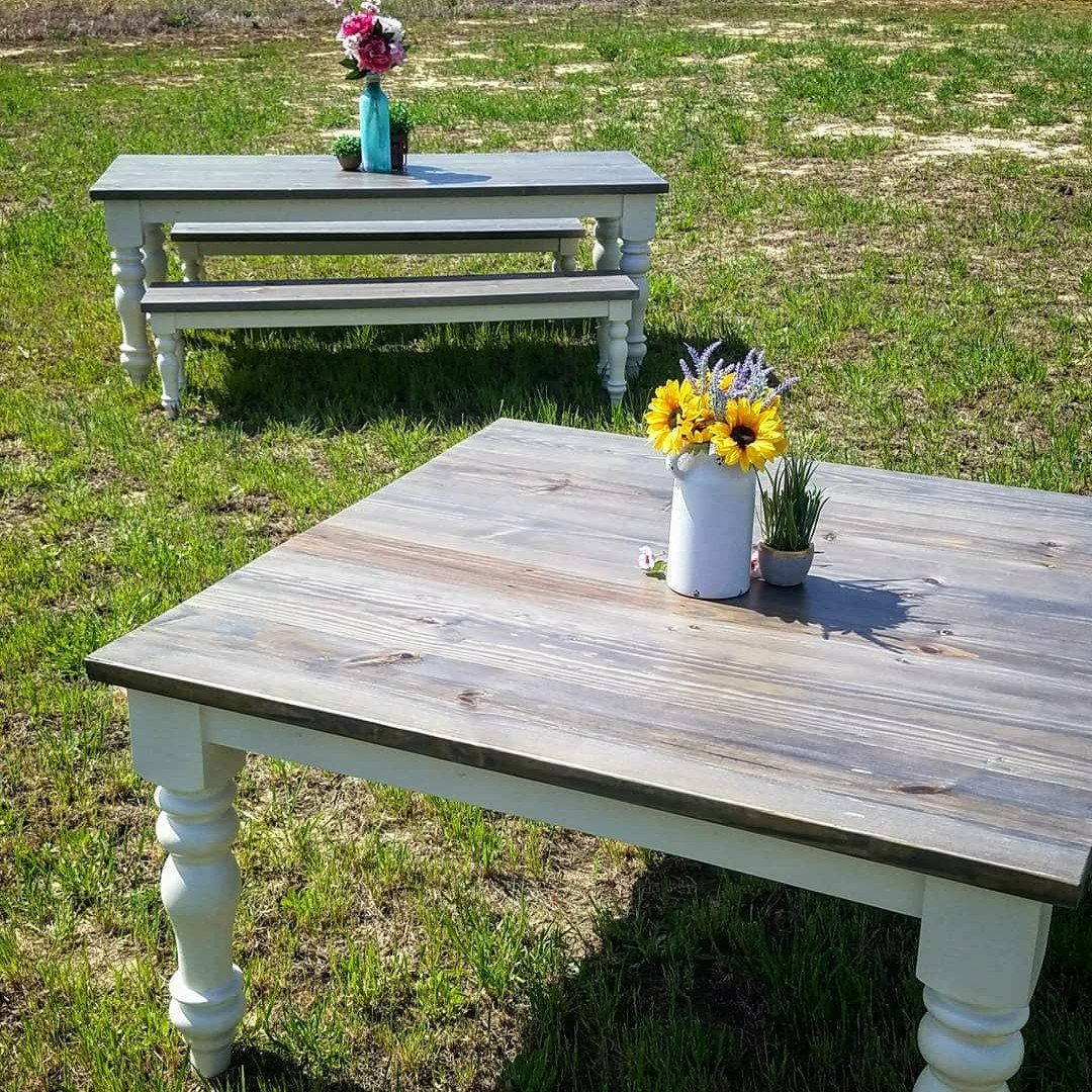 A look at our sophisticated farmhouse table this pic